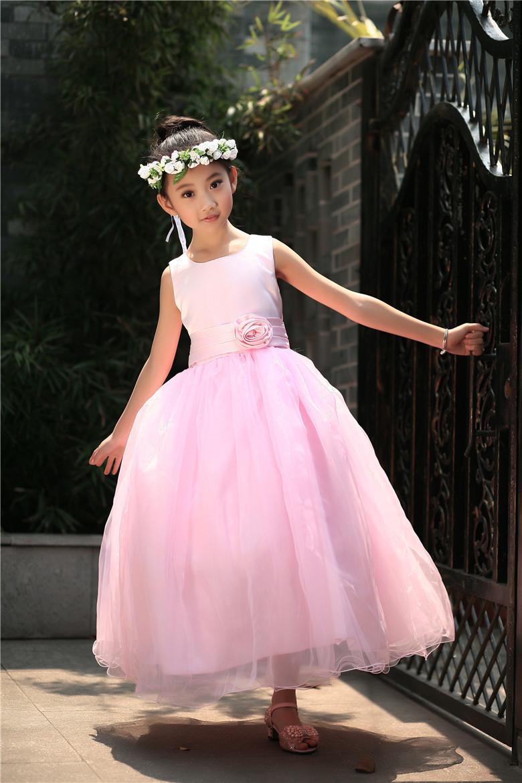 √Vestidos de niña para bodas sin mangas Tutu vestido de arrastre ...