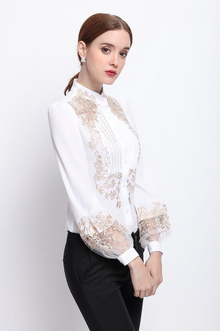 HTB1UaYnOVXXXXaxaXXXq6xXFXXXy - 2017 Spring Women Elegant Hollow Princess Long Sleeve Brand Silk Blouse Shirts white/black embroidery Shirts Tops Female Blusas