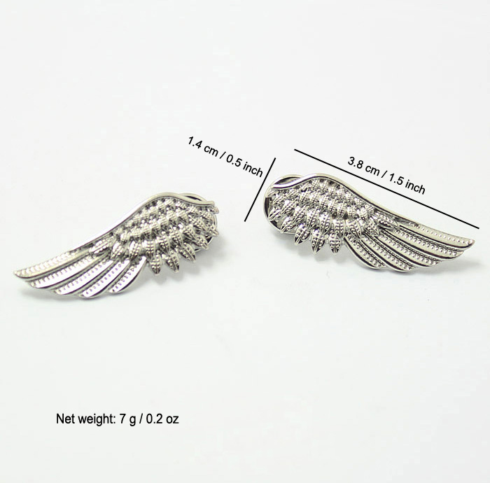 2019 Pin Brooches Gold Silver Alloy Metal Angel Eagle Wing