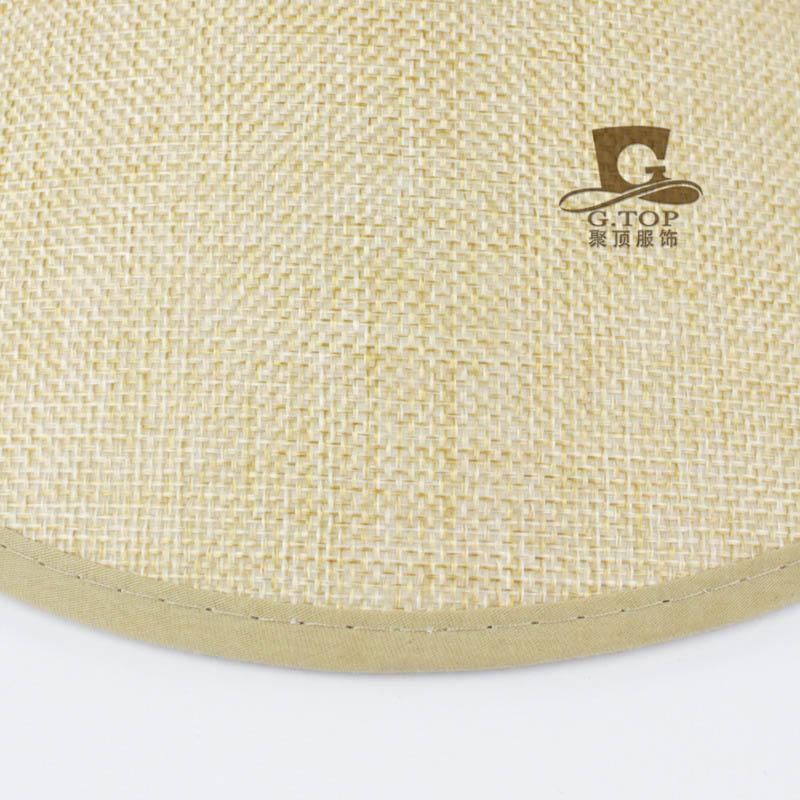 ④Casual Sol visera playa sombrero superior vacío verano cáñamo ...