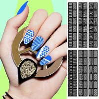 Easy Reusable Stamping Tool DIY Nail Art Template Stickers ...
