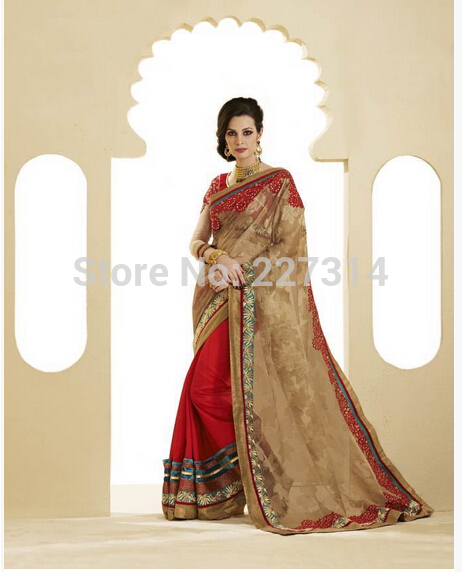 Online Kaufen Grohandel sari wedding dress aus China sari