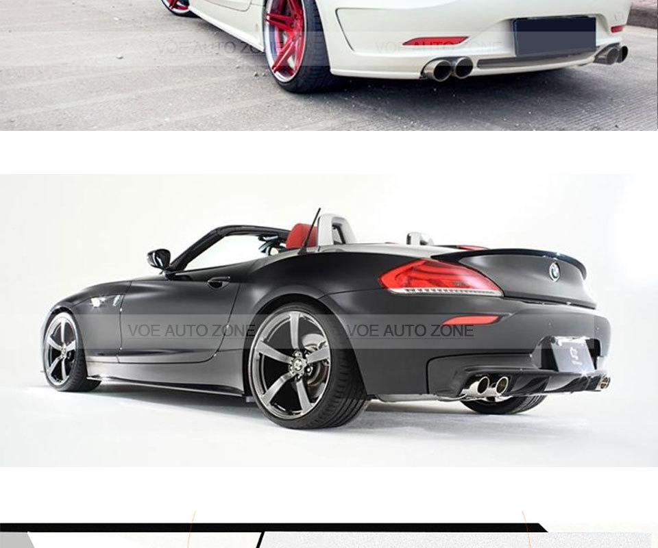 ⃝2009 2016 Z4 Carbon Fiber 3d Style Rear Wing Lip Spoiler