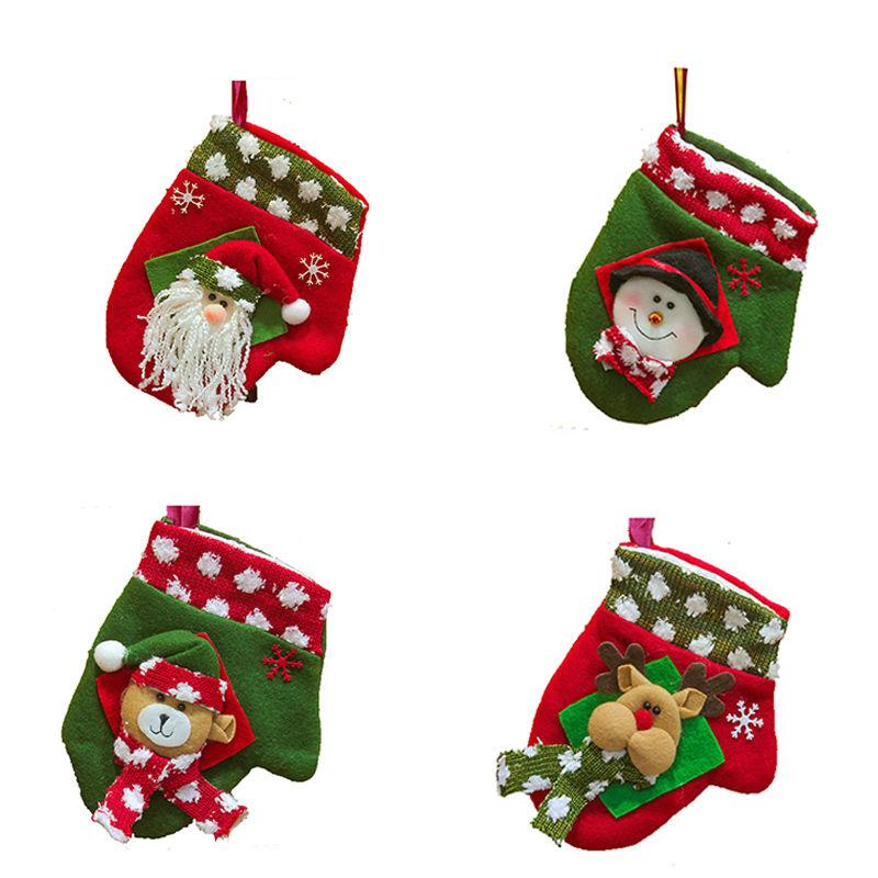 ᐃNavidad decoración regalos Navidad Guantes Colgantes ornamento del ...