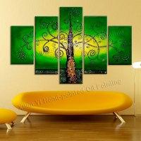 Aliexpress.com : Buy 5 Piece Canvas Wall Art Hand Painted ...