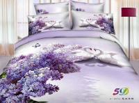 Aliexpress.com : Buy 3D Purple swan aqua lilac floral ...