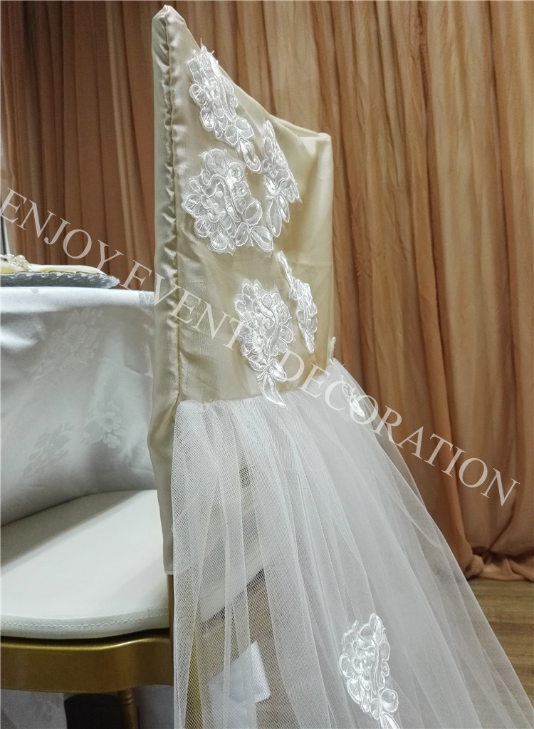 chair back covers wedding contemporary dining room chairs uk 20pcs yhc 175 fancy embroidery tulle chiavari events 3 cover