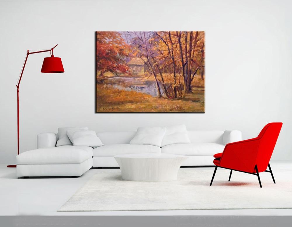 ᐅArtista artesanía moderna oro planta árbol Wall Artwork cuadros ...