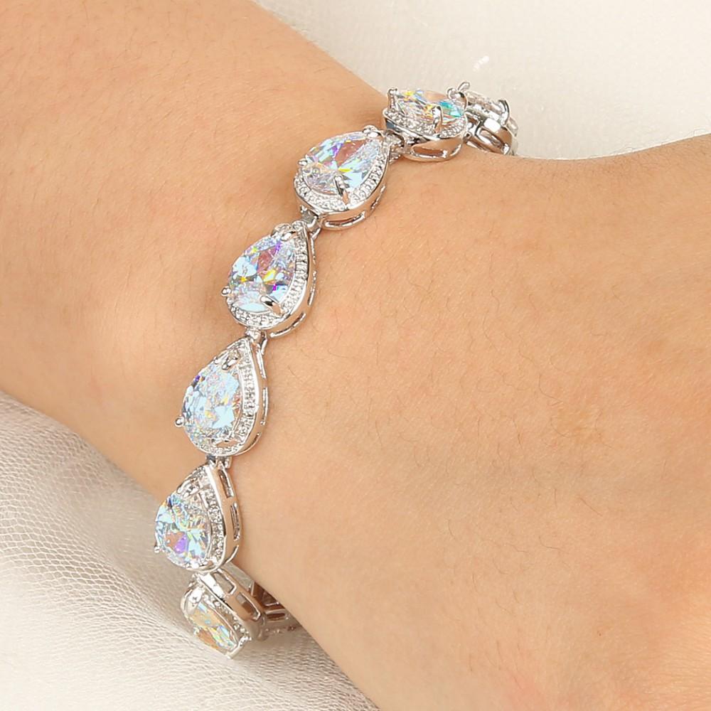 Jewelry & Watches Bridal Jewelry Tennis Bracelet Swarovski Crystal Bridesmaid Diamante Jewelry Bridal Tennis Bra Price Remains Stable
