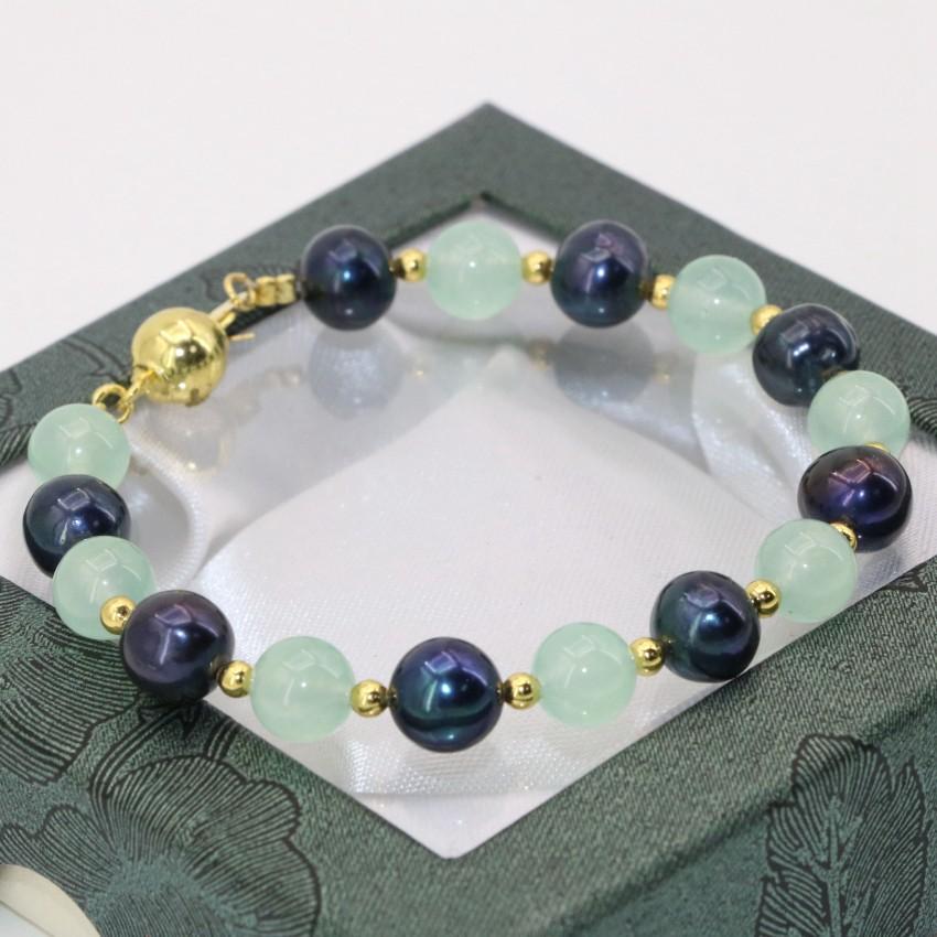 """Natural AAA 6mm-16mm Arc-en-oeil Obsidienne Perles Rondes Extensible Bracelet 7.5/"""""""