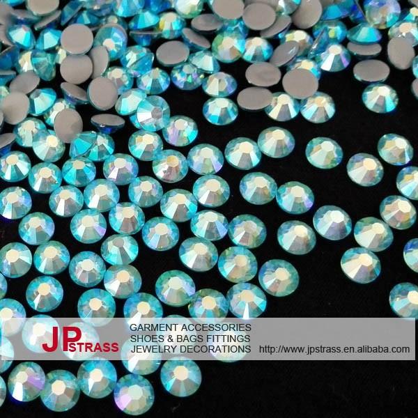 """Nouveau 10x14mm Naturel Bleu Riz Aquamarine Gems Strass Bracelet Bangle 7.5/"""""""