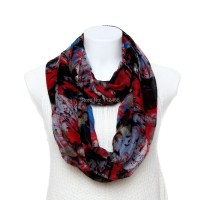Infinity Scarves Punk Style/1pc New Ink Graffitist Printed ...