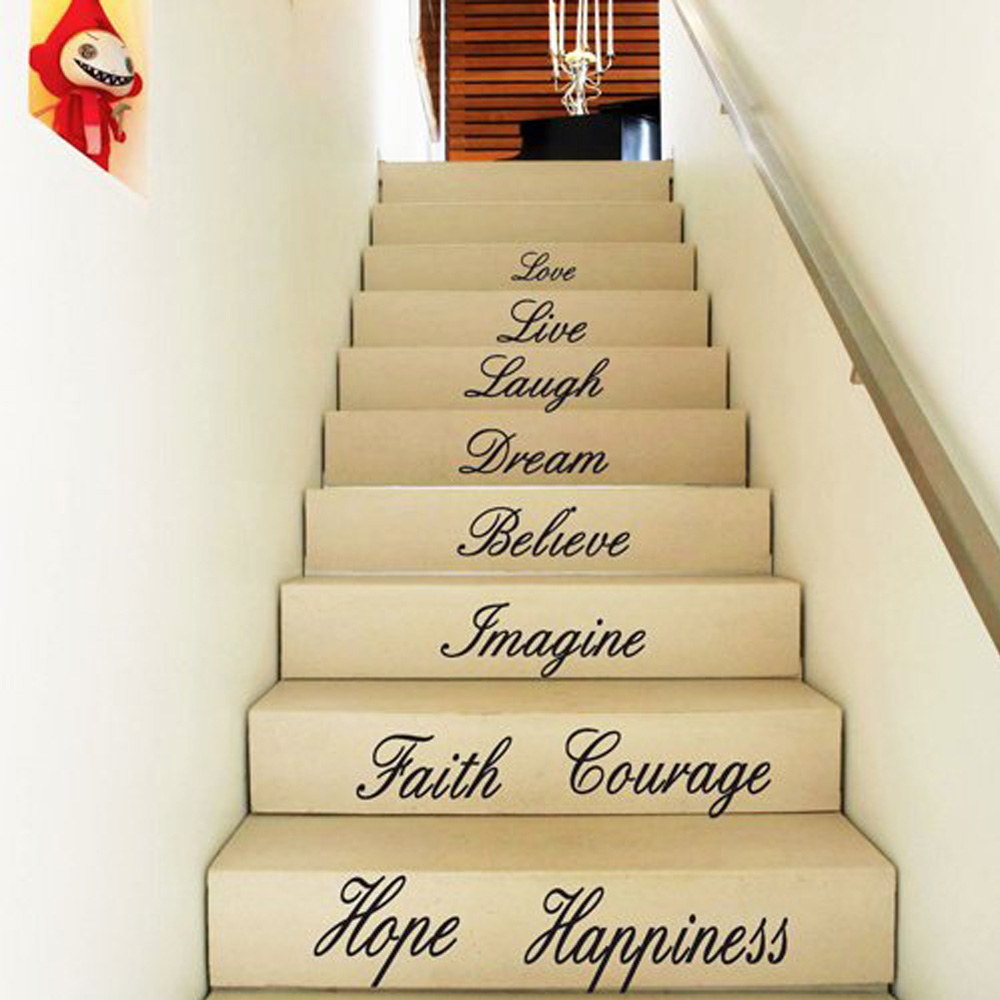 ⊰ Removable Decals English Love Wall Posters Sticker Room Step ...