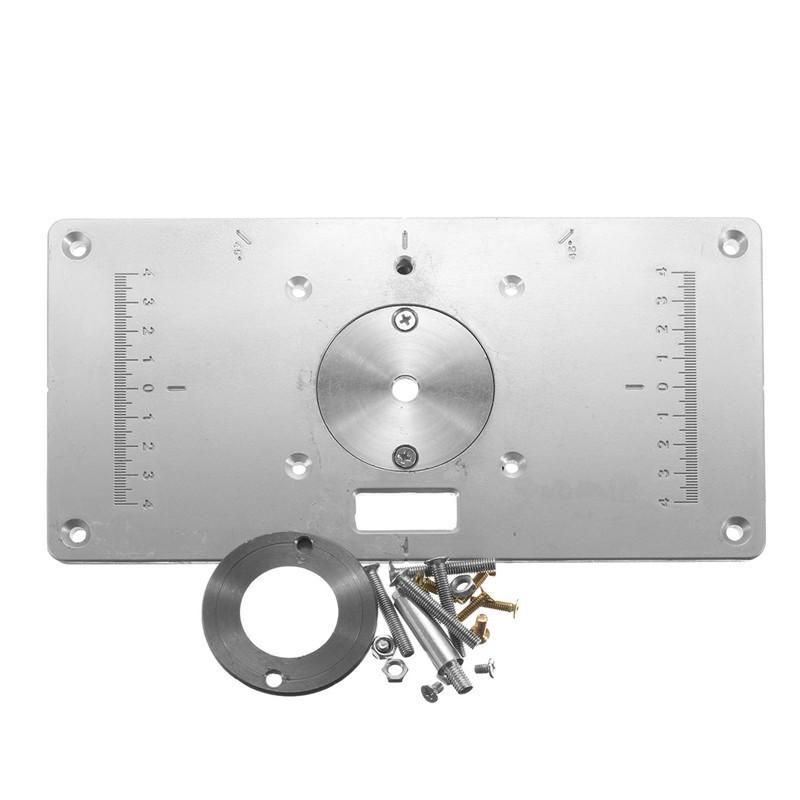 ④Nueva llegada DIY nuevo aluminio de carpintería router tabla Placa ...