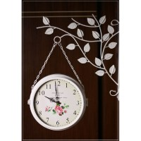 Double sided Wall Clock Modern Design Wrought Iron Wall ...
