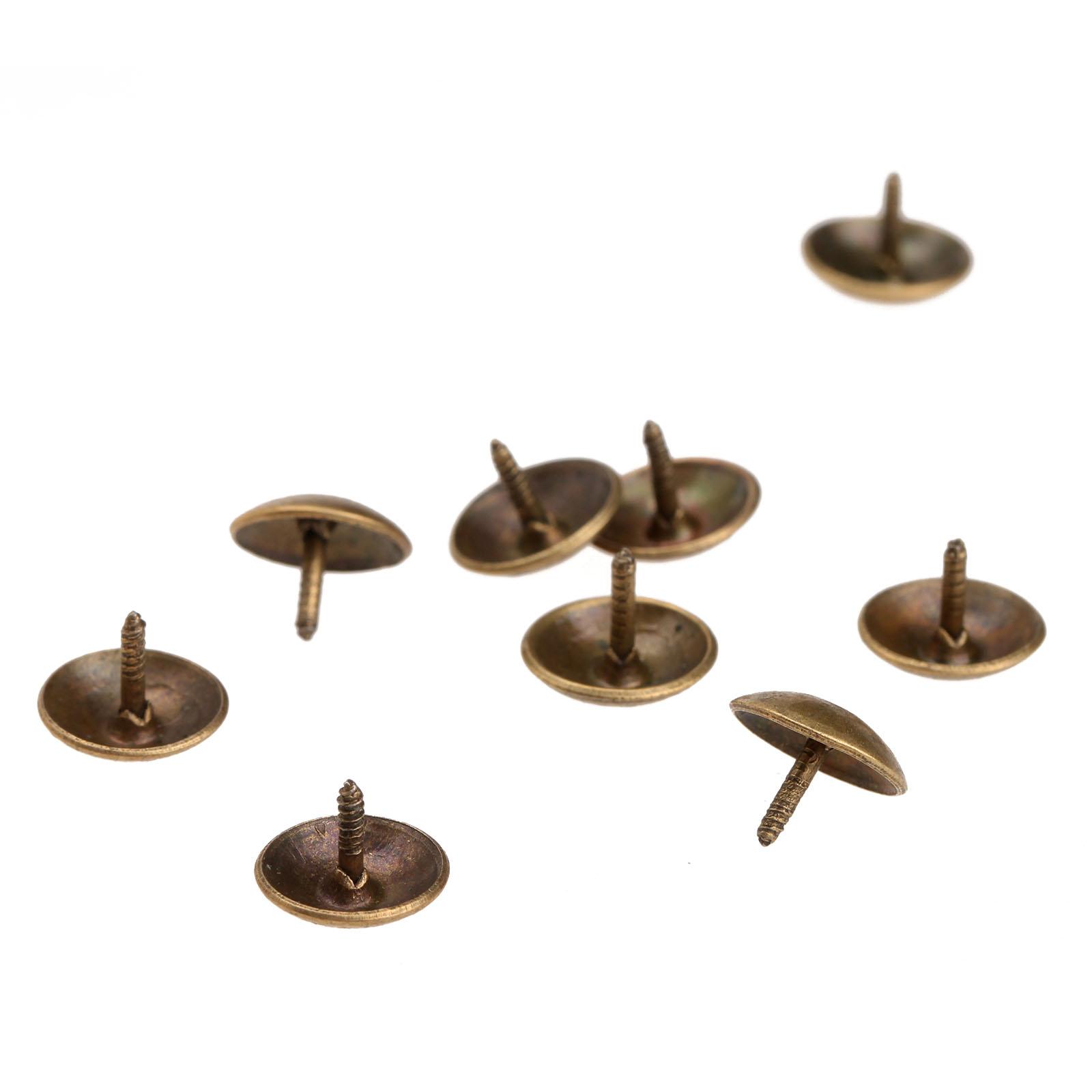 웃 유100Pcs/lot 9x6mm Antique Brass Upholstery Nail Decorative ...