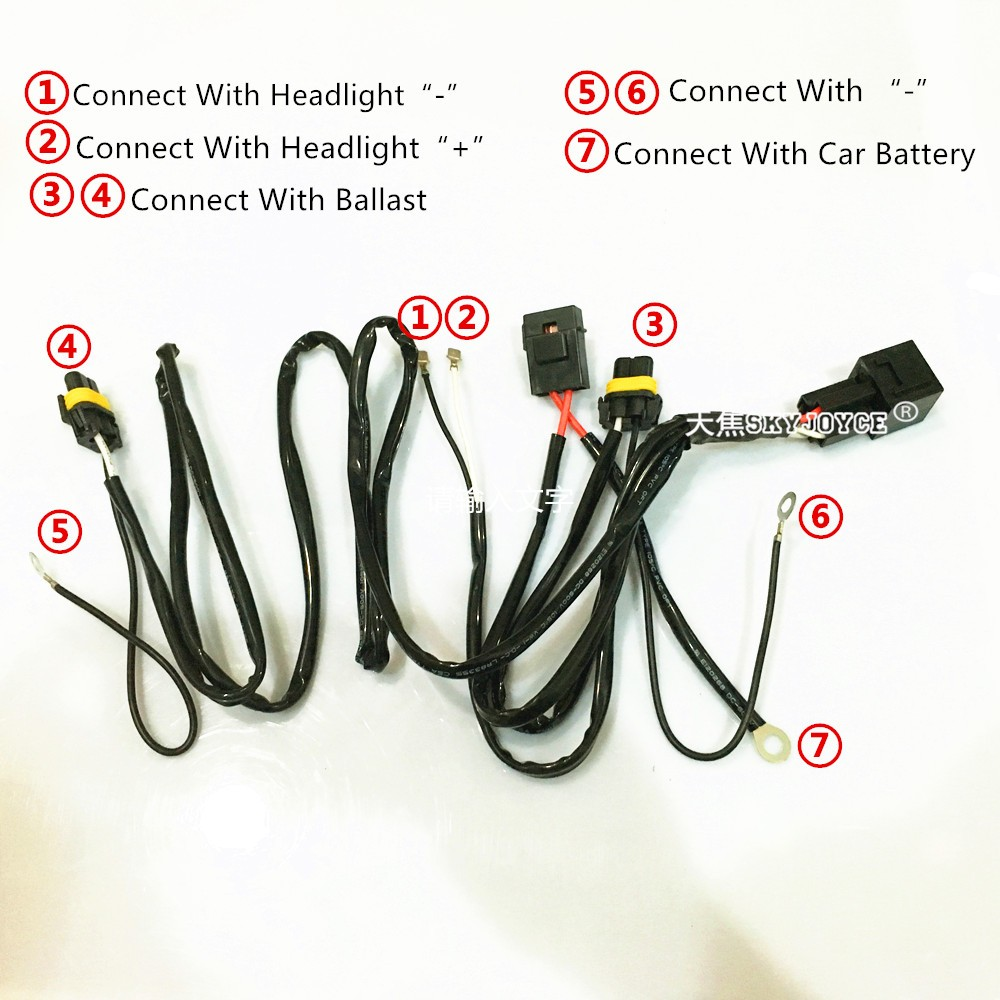 75w wire relay wire harness for spotlights hid drive work light 35w 55w 100w 75w relay [ 1000 x 1000 Pixel ]
