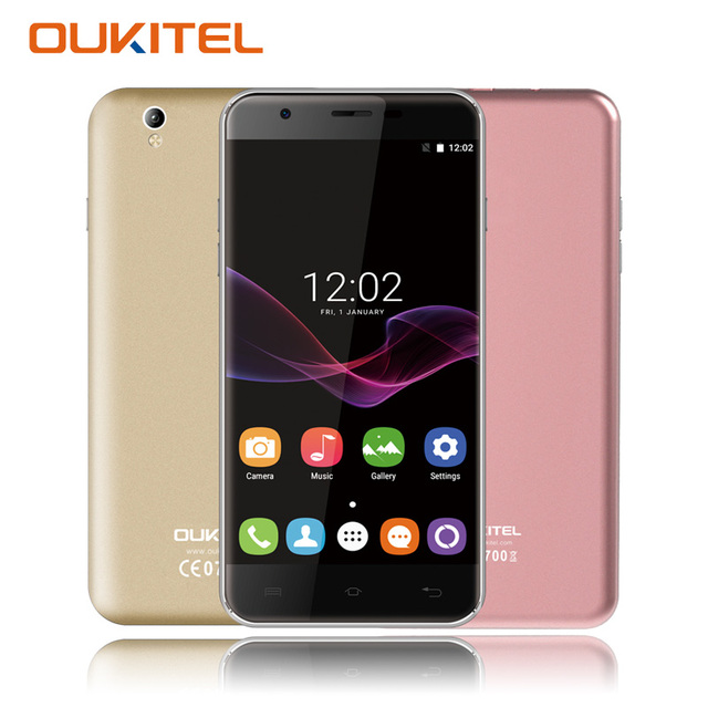 Oukitel U7 Max 5.5 Inch 3G Smartphone Quad Core 1GB RAM 8GB ROM Android 6.0 Mobile Cell Phone Dual Sim Card 13.0 MP WiFi GPS