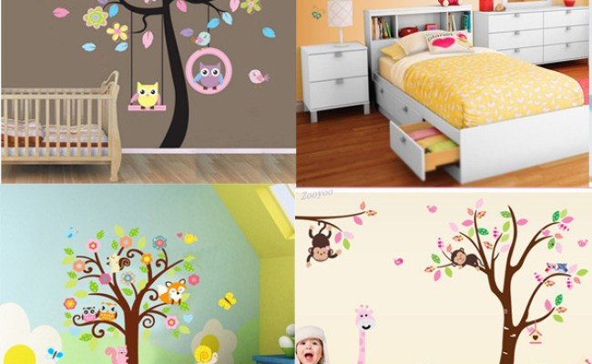 Diy Cute Owl Tree Pvc Art Wall Stickers Decals Home Decor