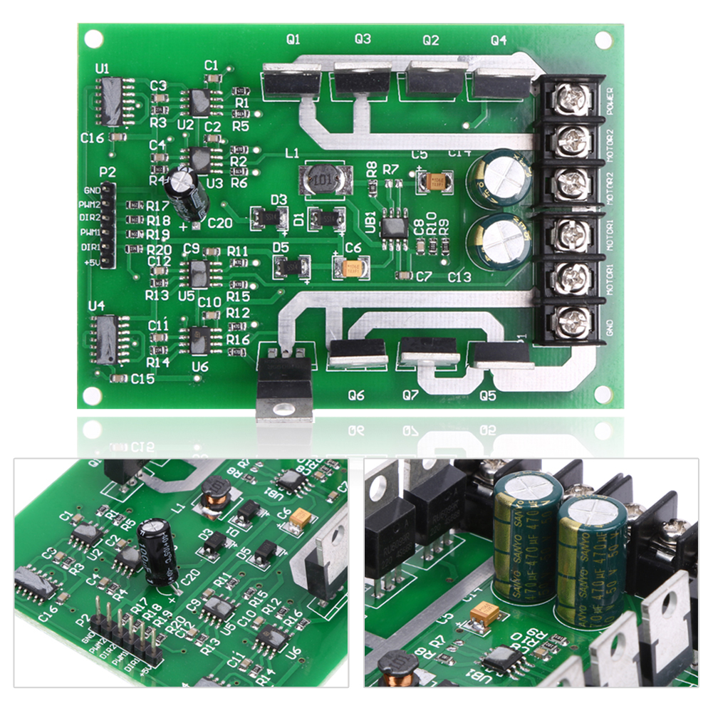 Dual Motor Driver Module Board H Bridge Dc Mosfet Irf3205 3 36v Control With Power Mosfets Getsubject Aeproduct