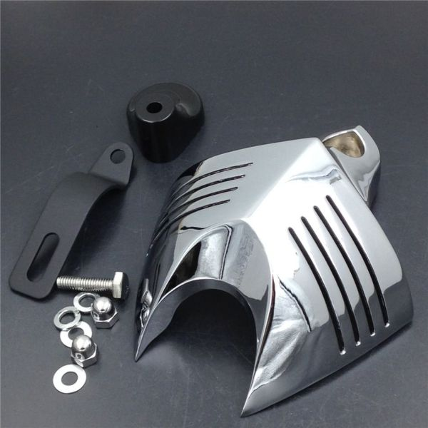 High Quality Chrome Motorcycle Bike Shield Horn Cover