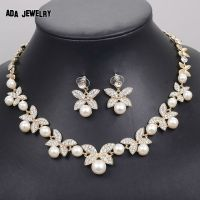 White Gold Necklace And Earring Set