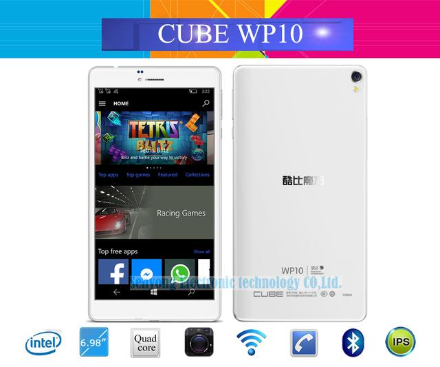Новый Cube WP10 4 Г Телефонный Звонок для Windows 10 Tablet PC 6.98 ''IPS 1280x720 Qualcomm MSM8909 Quad Core GPS 2.0 + 5.0 МП автофокусом камера