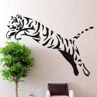Tiger-Wall-Sticker-Wild-Cheetah-Cat-African-Animal-Tiger ...