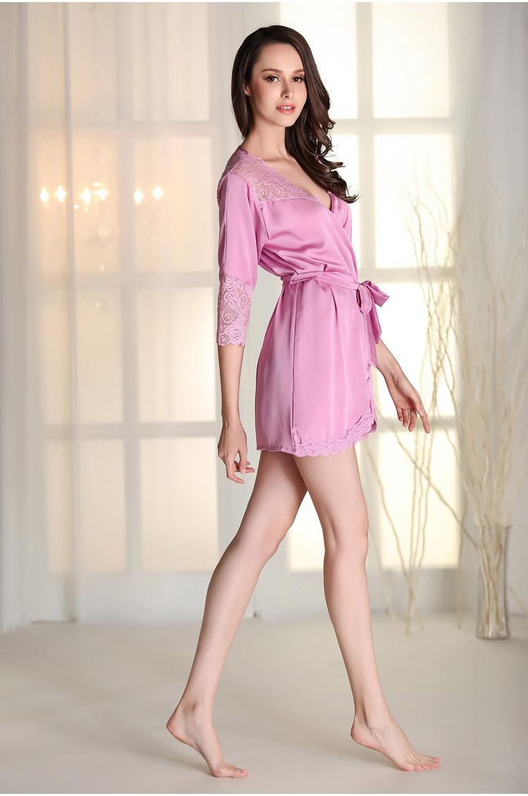 ▻Peignoir Homme Polaire seda lencería sexy kimono novia bata de ...