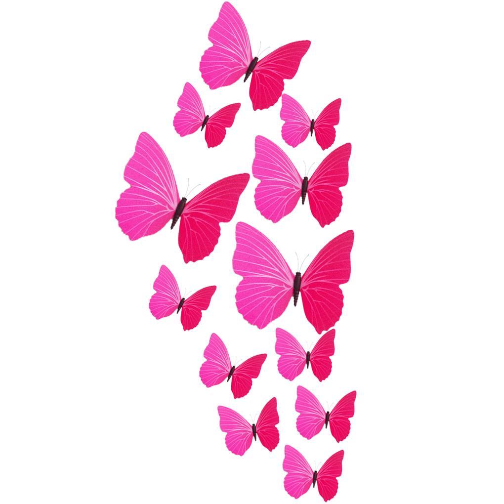 En venta 12 unids pared pegatinas mariposa fotografía de la boda del ...