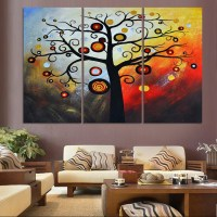 modern abstract money tree canvas wall art Hand painted ...