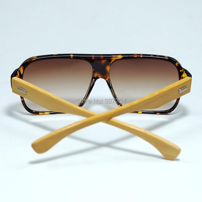 a0ce3603a ᗛNovo Quadro Oblongo Presente Especial De Bambu Óculos De Sol Com ...