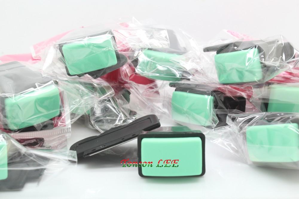 ΞManicura imagen verde estampado Placas manicura herramienta ...