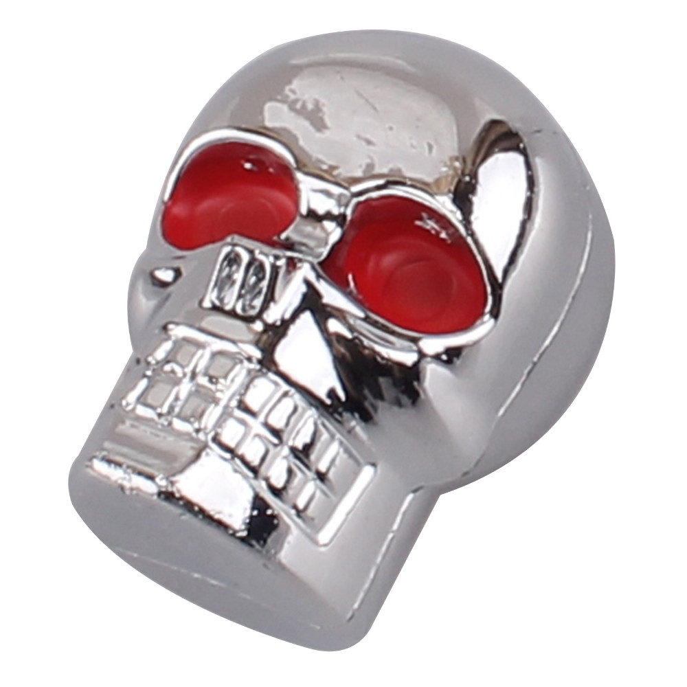 ᗑ】4x6mm cromo rojo ojo cráneo motocicleta Marcos de matrícula ...