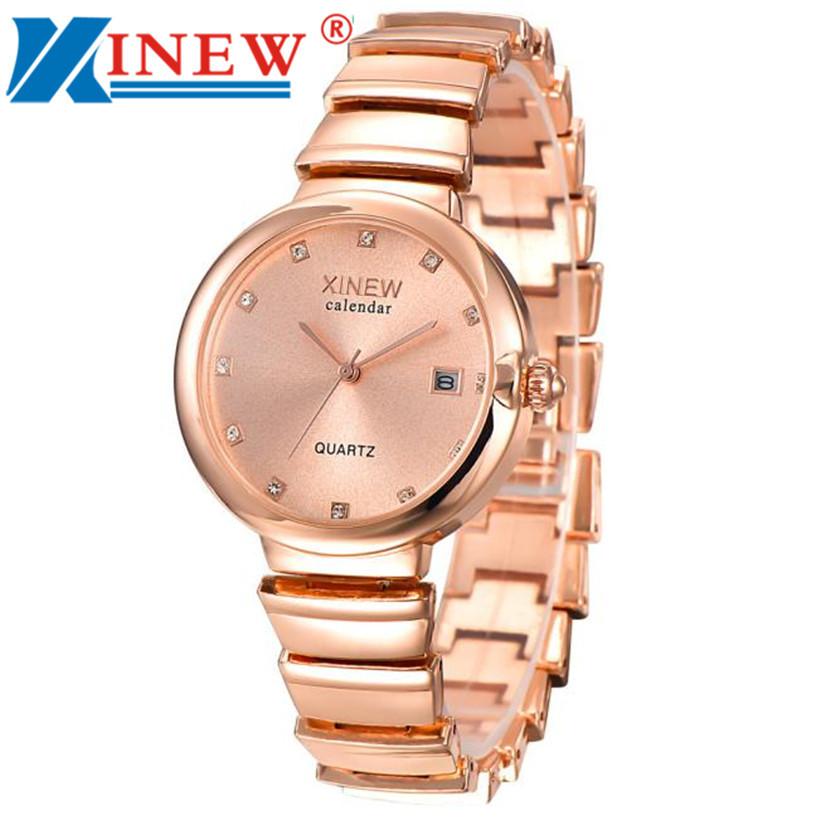 4f003a1add5 XINEW Relógio Da Menina Das Mulheres Unisex Moda Relógios De Luxo Banda de Aço  Inoxidável Relógio de Quartzo relogio feminino bayan kol saati