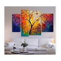 handpainted oil painting palette knife paintings for ...