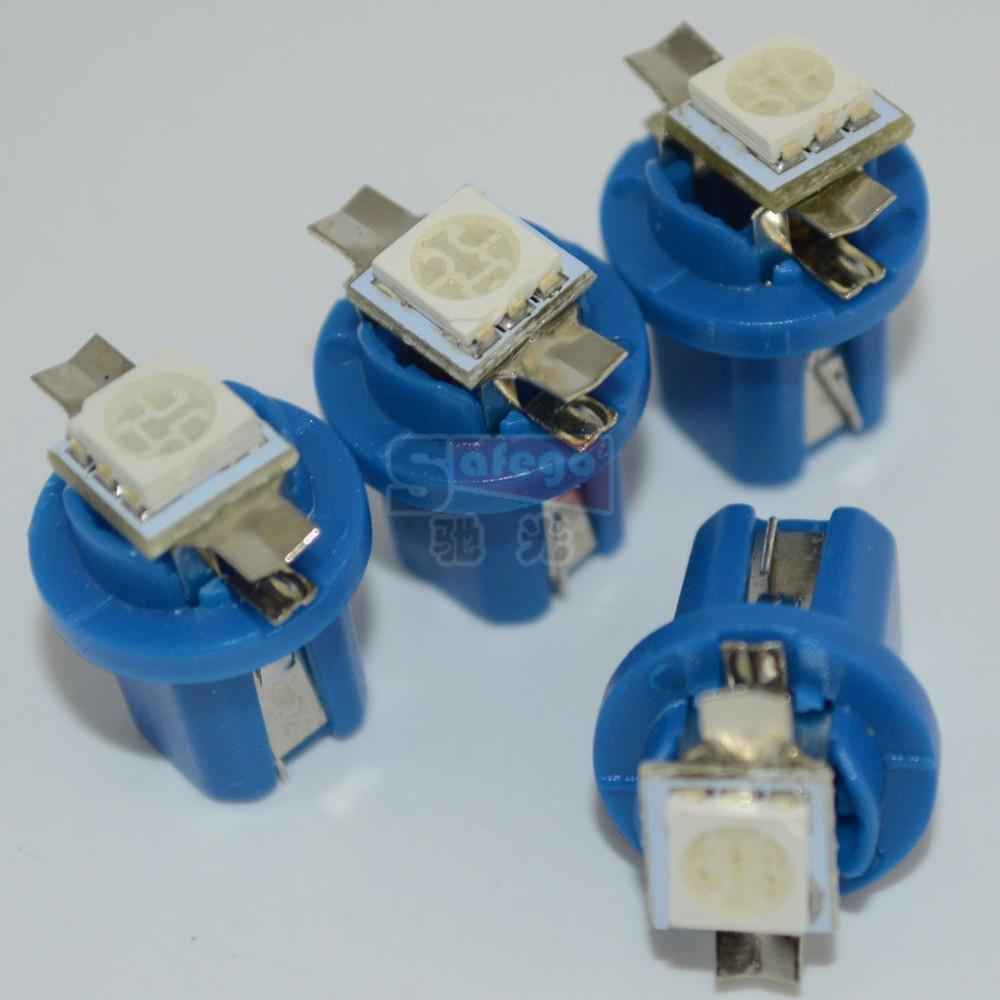 இ4pcs/lot B8.5D Led Car Auto T5 5050 1 SMD LED for Car Indicator ...