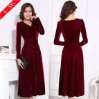 Red Velvet Dresses for Plus Size Women