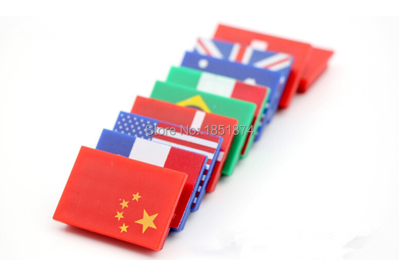 10 pcs lote smultinational drapeaux réfrigérateur aimant home decor