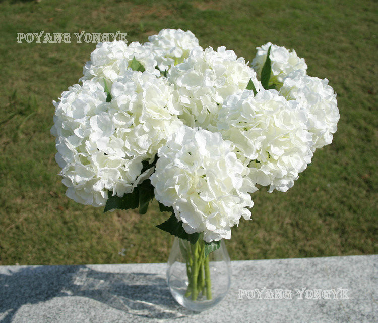₩Elegant Hydrangea Artificial Silk Flower Wedding Centerpieces ...