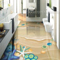 3D Sticker Floor Custom Waterproof 3D flooring Self ...