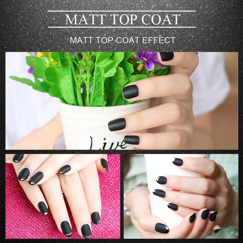 Φ_ΦMEIKSAY Gel de Matt Matte Top Coat UV Gel Nail Art polaco laca ...