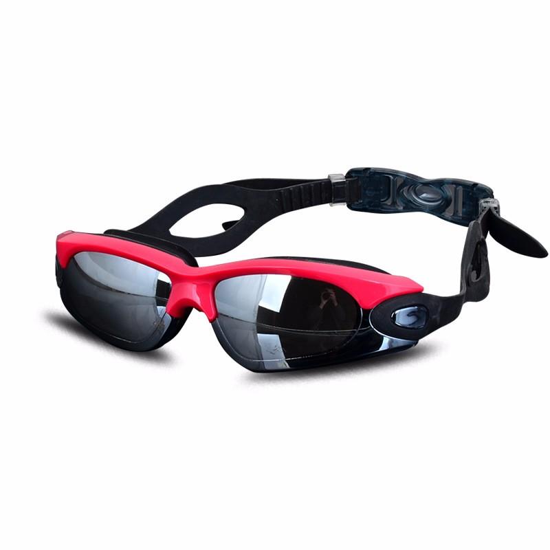 df0afd81b Homens Mulheres Anti Fog Proteção UV Óculos de Natação Profissional  Galvaniza Óculos de Mergulho À Prova D
