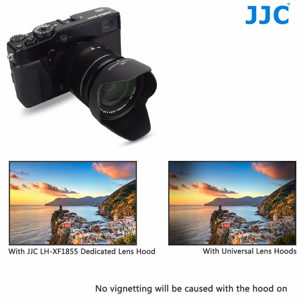 Jjc Schwarz Kamera Objektiv Haube Fr Fujinon Xf14mm F28 R Xf18 55mm 4 Lm Ois