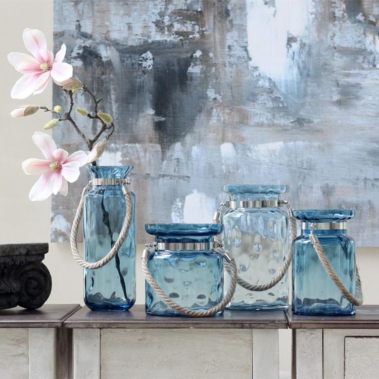 Online kopen Wholesale blauw glas vaas uit China blauw