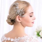 crystal rhinestone hair combs flower