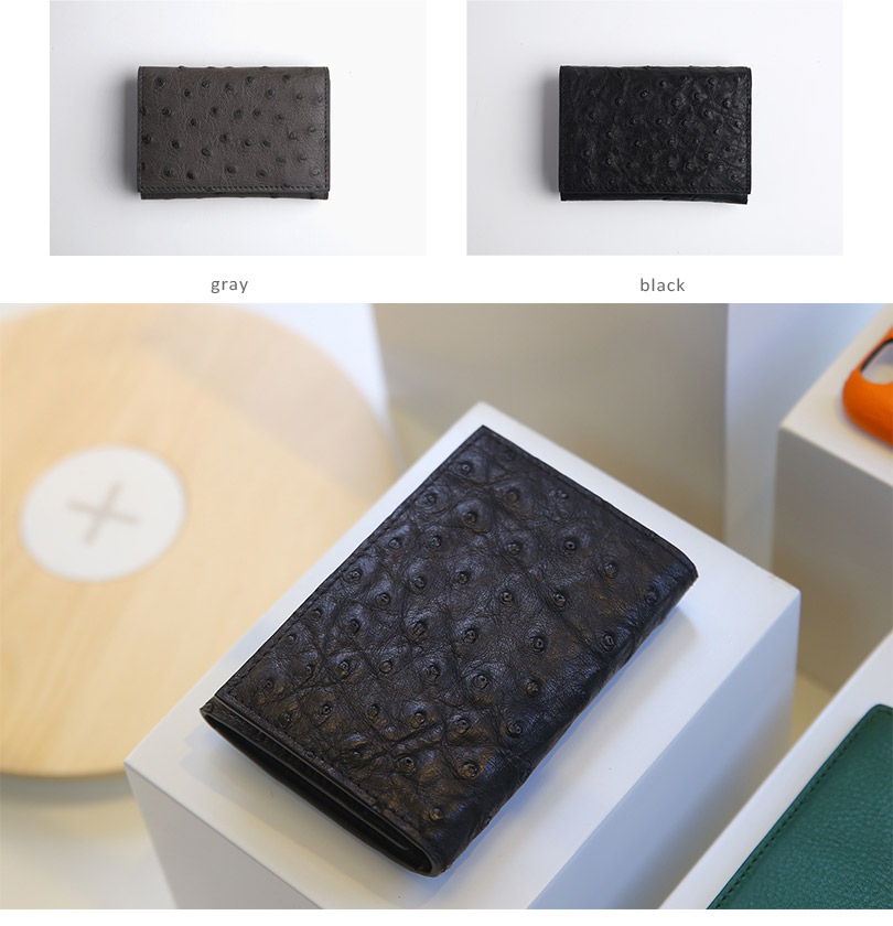 Hiram Beron Leather Business Card Holder Men Customized Ostrich ...