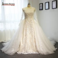 Ivory high end wedding dress two in one wedding dress with ...