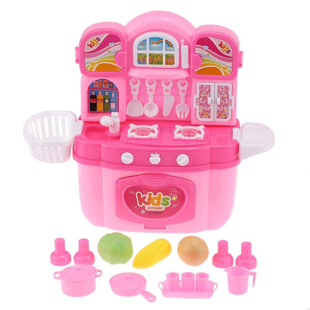 EBOYU (TM) Kinder Kinder Küche Kochen Spiel Spielzeug Set Kabinett ...