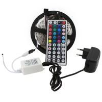 RGB LED Strip 5M 300LEDs SMD 5050 Strip LED Tape Light ...